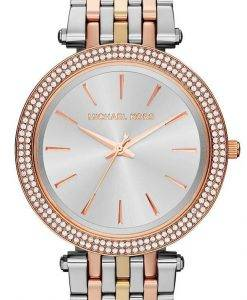 Michael Kors Silver Dial Tri-tone Crystals MK3203 Womens Watch