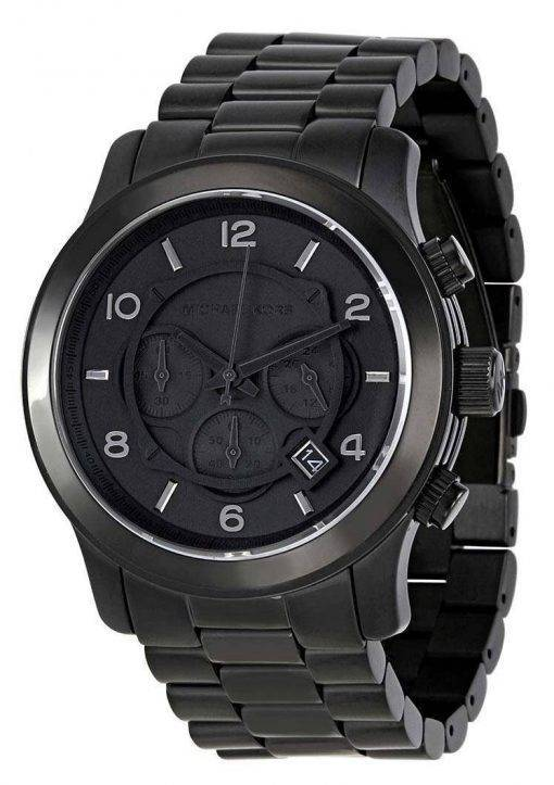 Michael Kors Blacked Out Runway Chronograph MK8157 Mens Watch