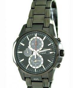 Seiko Solar Chronograph Alarm Black Dial SSC095P1 SSC095 SSC095P Mens Watch