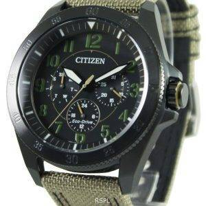 Citizen Eco-Drive Khaki Black IP BU2035-05E Mens Watch