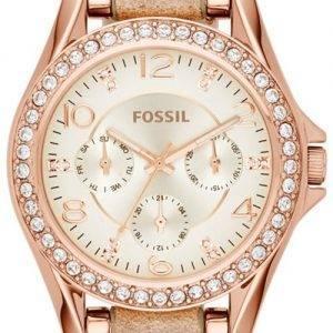Fossil Riley Multifunction Crystals ES3466 Womens Watch