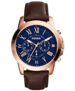 Fossil Grant Chronograph Rose Gold-Tone FS5068 Mens Watch