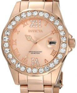 Invicta Pro Diver Rose Gold Dial Stainless Steel 15253 Women's Watch