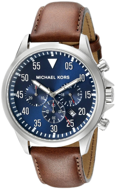 michael kors gage chronograph blaues zifferblatt mk8362. Black Bedroom Furniture Sets. Home Design Ideas