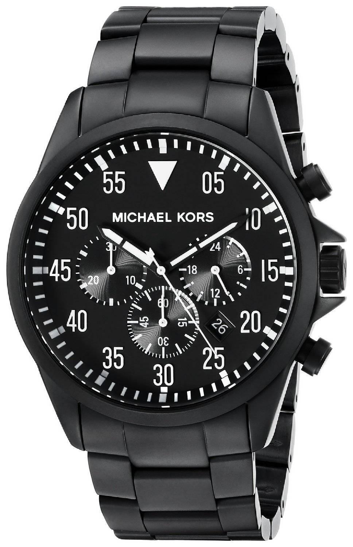 michael kors gage chronograph schwarzes zifferblatt mk8414. Black Bedroom Furniture Sets. Home Design Ideas