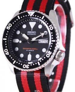 Seiko Automatic Diver's 200M NATO Strap SKX007J1-var-NATO3 Mens Watch