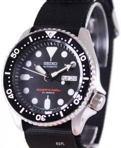 Seiko Automatic Diver's 200M NATO Strap SKX007J1-var-NATO4 Mens Watch