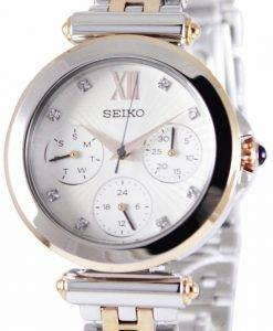 Seiko Multi-Function Two Tone Crystals SKY700P1 SKY700P Women's Watch