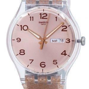 Swatch Originals rosa Glistar SUOK703 Unisex Quarzuhr