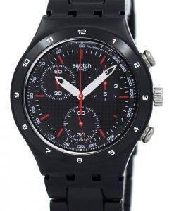 Swatch Ironie schwarz beschichtet Chorongraph YCB4019AG Unisex Quarzuhr
