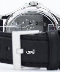 Armani Exchange schwarzes Zifferblatt Leder Armband AX2101 Herrenuhr