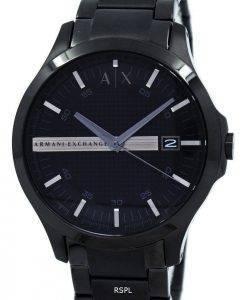 Armani Exchange schwarzes Zifferblatt Edelstahl AX2104 Herrenuhr