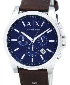 Armani Exchange Quarz Chronograph blau Zifferblatt AX2501 Herrenuhr