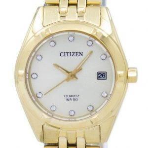 Citizen Analog Quarz Diamant Akzent EU6052 - 53P Damenuhr