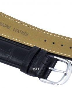 Schwarze Verhältnis Marke Lederband 22mm für SKX007, SKX009, SKX011, SNZG07, SNZG015