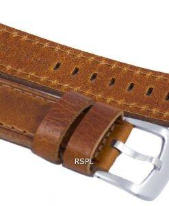 Braun-Verhältnis Marke Lederband 22mm für SKX007, SKX009, SKX011, SNZG07, SNZG015
