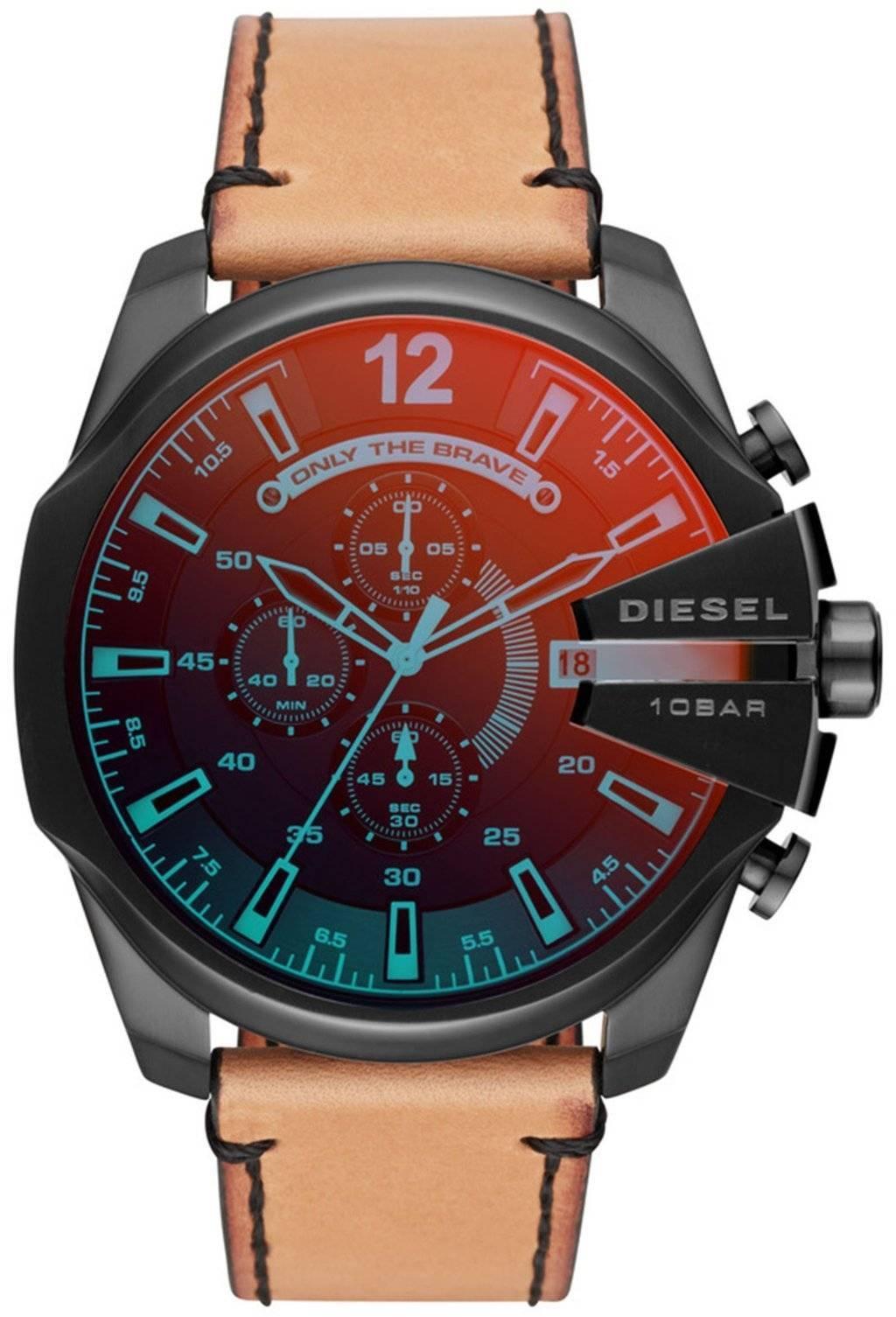 Diesel Zeitrahmen Mega Chief Chronograph Quarz DZ4476 Herrenuhr ...