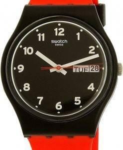 Swatch Originals rote Grinsen GB754 Unisex Quarzuhr