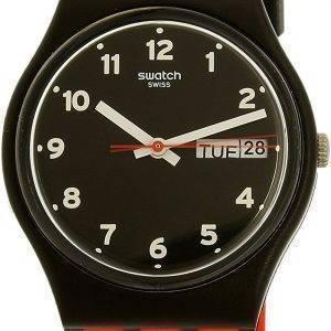 Swatch Originals rote Grinsen GB754 Unisex Quarzuhr