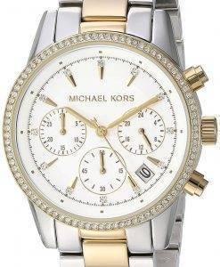 Michael Kors Ritz Chronograph Quarz Diamant Akzent MK6474 Damenuhr