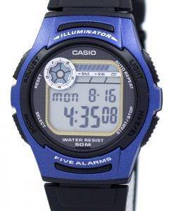 Casio-Jugend Digital 5 Alarme Illuminator W-213-2AVDF W-213-2AV Herrenuhr