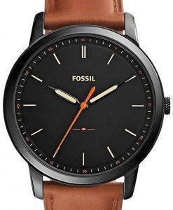 Fossilen minimalistischen 3H Quarz FS5305 Herrenuhr