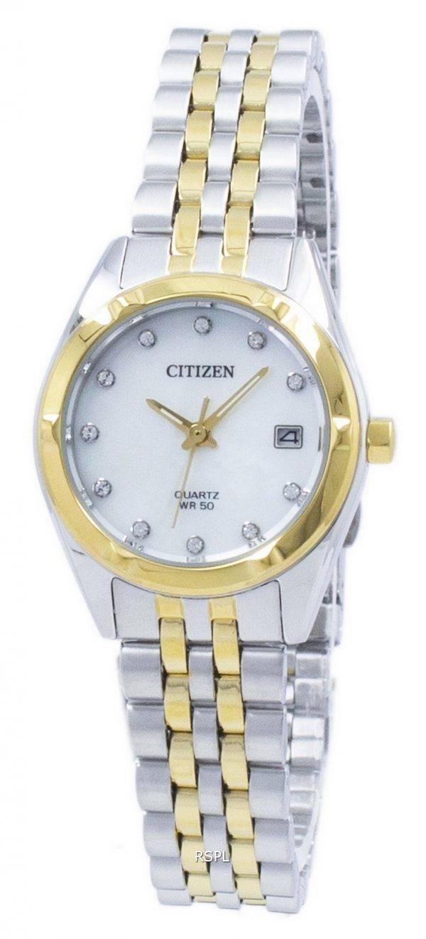 Citizen Eco-Drive Diamant Akzent EU6054 - 58d Damenuhr