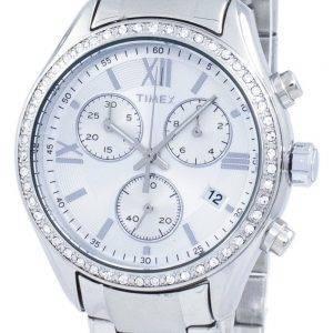 Timex Miami Chronograph Quarz Diamant Akzent TW2P66800 Damenuhr