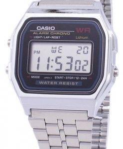 Casio Digital Alarm Chrono Edelstahl A159WA-N1DF A159WA-N1 Herrenuhr