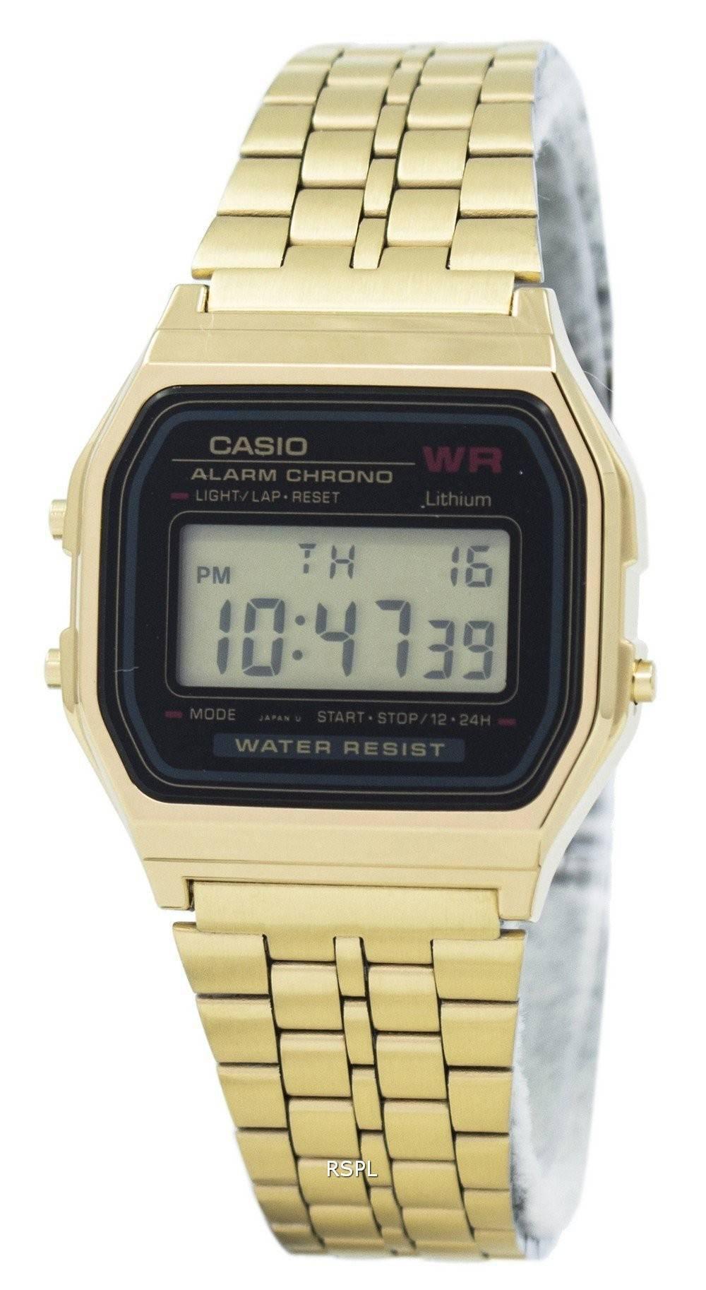 Chrono Alarm 1 Damenuhr 1df Casio Edelstahl Digital A159wgea qSUzMpVG