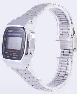 Casio Digital Alarm Chrono Edelstahl A168WA-1WDF A168WA-1W Unisex Uhr