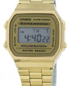 Casio Digital Alarm Chrono Edelstahl A168WG-9WDF A168WG-9W Unisex Uhr