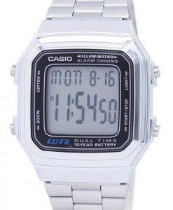 Casio Digital Edelstahl Alarm Chrono Dual Time A178WA-1ADF A178WA-1A Herrenuhr