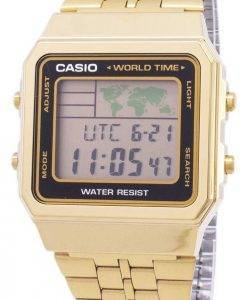 Casio Digital Edelstahl World Time A500WGA-1DF A500WGA-1 Herrenuhr