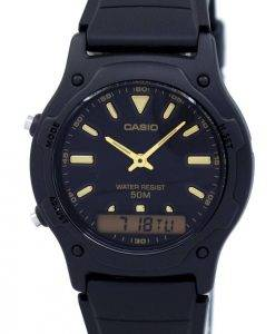 Casio Analog Digital Quarz Dualzeit AW-49HE-1AVDF AW-49HE-1AV Herrenuhr