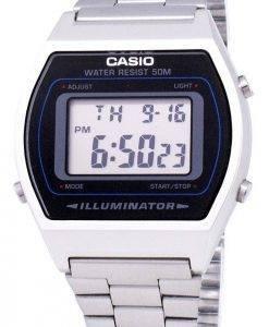 Casio Digital Quarz Edelstahl Illuminator B640WD-1AVDF B640WD-1AV Herrenuhr