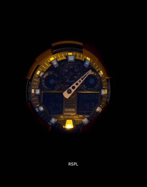 Casio G-Shock GA-100 b-4A Analog Digital Herrenuhr