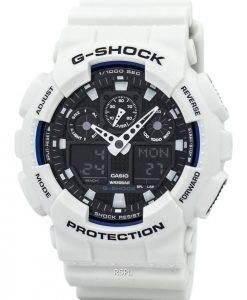 Casio G-Shock Welt Zeit weiß Analog Digital GA-100 b-7A-Herrenuhr