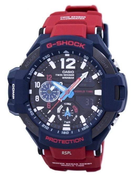 Casio G-Shock GRAVITYMASTER stoßfest Welt Zeit GA-1100-2A Herrenuhr