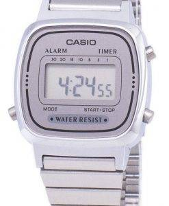 Casio Digital Edelstahl Alarm Timer LA670WA-7DF LA670WA-7 Damenuhr