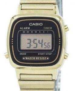 Casio Digital Edelstahl Alarm Timer LA670WGA-1DF LA670WGA-1 Damenuhr