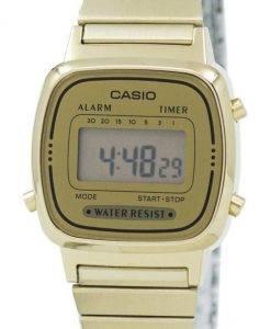 Casio Digital Edelstahl Alarm Timer LA670WGA-9DF LA670WGA-9 Damenuhr