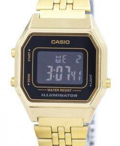 Casio Digital Quarz Edelstahl Illuminator LA680WGA-1BDF LA680WGA-1 b Damenuhr