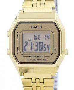 Casio Digital Quarz Edelstahl Illuminator LA680WGA-9DF LA680WGA-9 Damenuhr