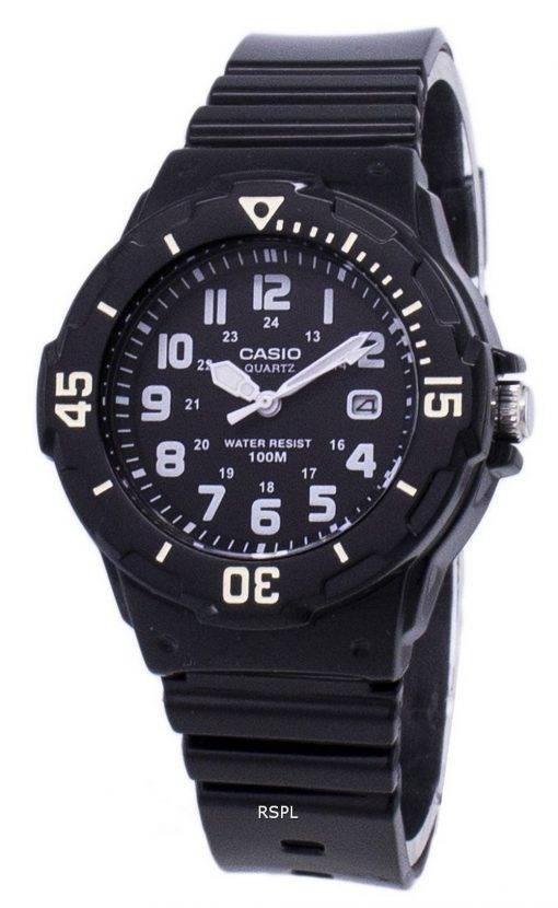 Casio Enticer analoge schwarzes Zifferblatt LRW-200H-1BVDF LRW-200H-1BV Damenuhr