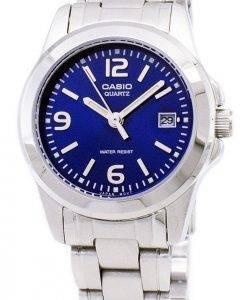 Casio Analog Quarz blaues Zifferblatt LTP-1215A-2ADF LTP-1215A-2A Damenuhr