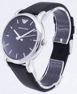 Emporio Armani klassisches schwarzes Zifferblatt schwarz Leder AR1692 Herrenuhr