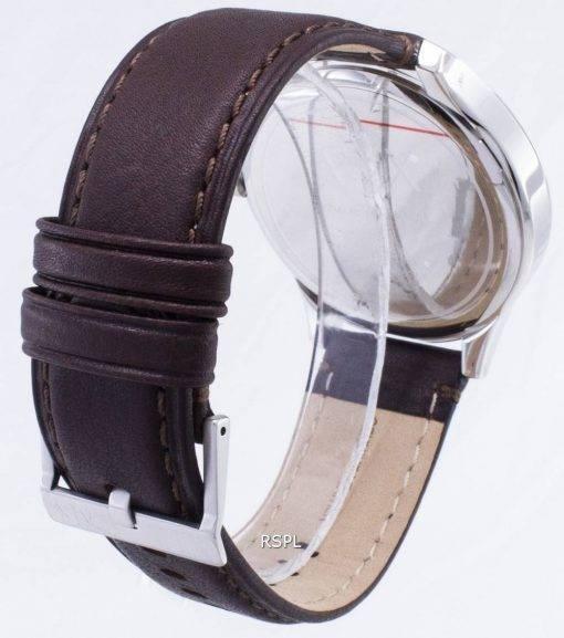 Armani Exchange Quartz Marine Zifferblatt braun Leder Armband AX2133 Herrenuhr