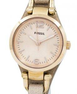 Fossil Georgien Mini Rose Dial Sand Leder Armband ES3262 Damenuhr