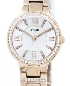 Fossil Virginia drei Hand Crystal Gold Tone ES3284 Damenuhr